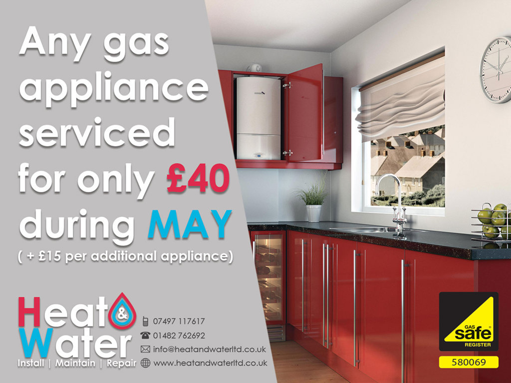 £5 off Gas servicing for May 2017